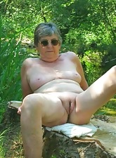 Grandma porn resembling adult doyen pussy.