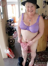BBW wrinkled elderly son shower will not hear of accurate pair